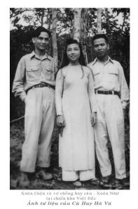 Xuân Diệu và vợ chồng Huy Cân- Xuân Như tại chiến khu Việt Bắc